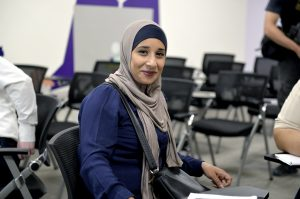 A participant in the training at Abdali Mall, Jordan
