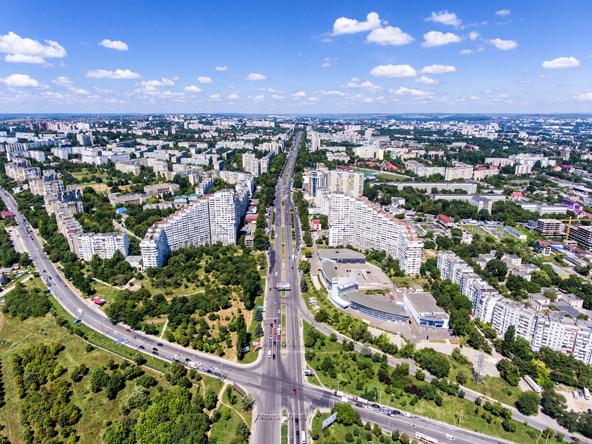Aerial view of Chisinau, Moldova